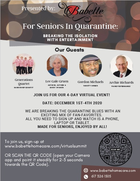 For Seniors In Quarantine: BREAKING THE ISOLATION WITH ENTERTAINMENT